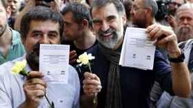 Jordi Sánchez y Jordi Cuixart controlan las plataformas que organizan las movilizaciones independentistas.