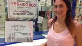 Claudia, cuya madre es la dueña de la administración en la que se selló la apuesta ganadora de los 190 millones de euros.