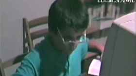 Ignacio Echeverría encarnaba a un científico enamorado en la cinta casera.