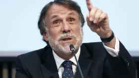 El presidente del Grupo Planeta, Jose Creuheras, durante una rueda de prensa.