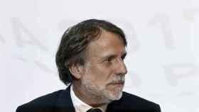 El presidente de Planeta, José Creuheras, durante la rueda de prensa del último Premio Planeta.