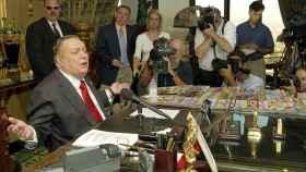 Larry Flynt, durante una de sus comparecencias.