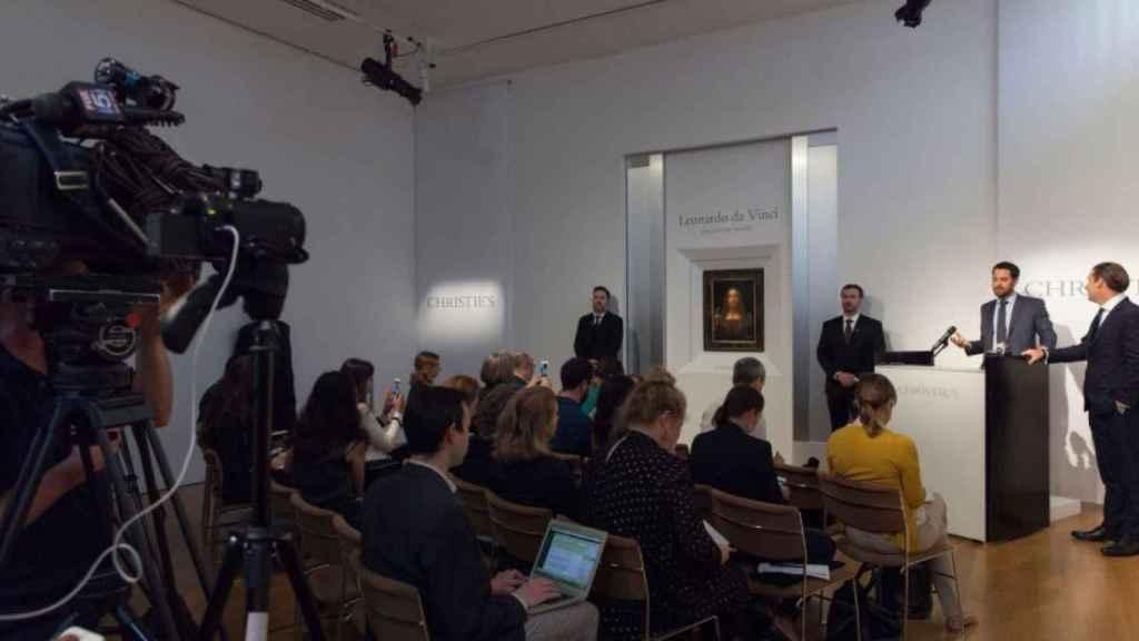 Presentación de la venta en Christie's de 'Salvator Mundi'.