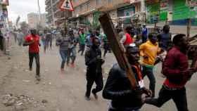 Protestas en Kenia tras el fraude electoral.