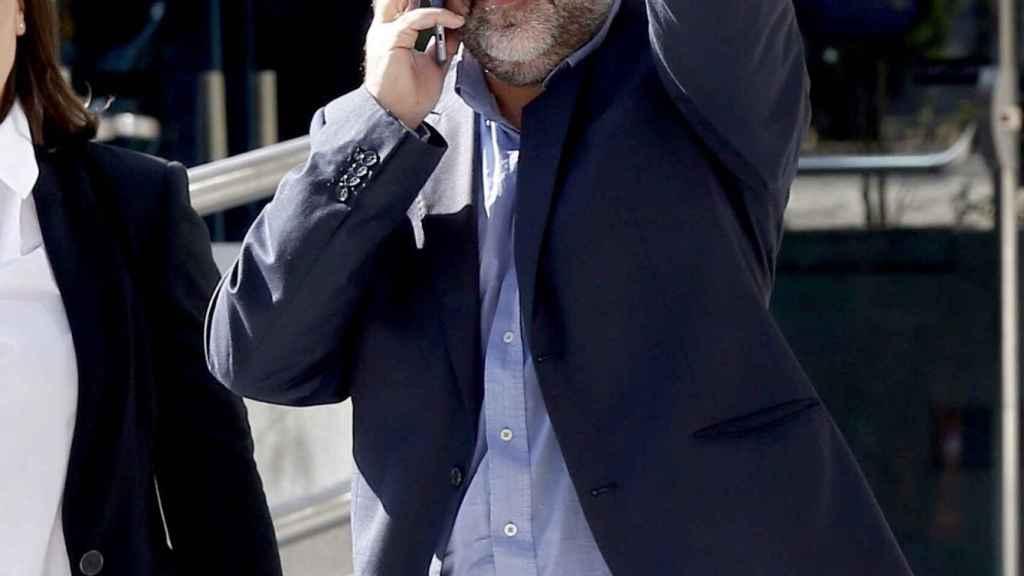 El líder de la Asamblea Nacional Catalana, Jordi Sánchez, durante un receso en la Audiencia Nacional.