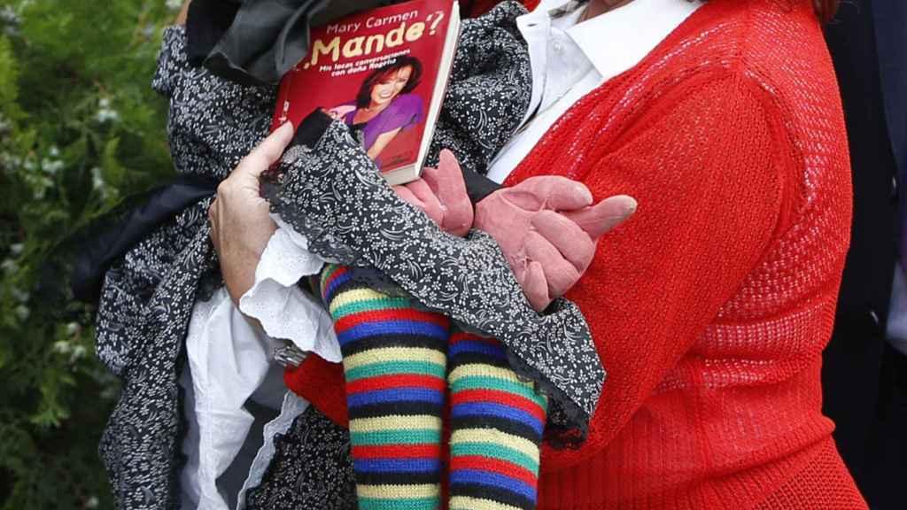 Mari Carmen y sus muñecos (con Doña Rogelio) en una imagen de archivo.