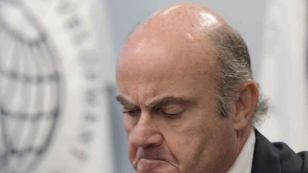 El ministro español de Economía, Industria y Competitividad, Luis de Guindos.