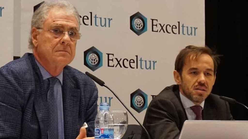 El vicepresidente ejecutivo de Exceltur, José Luis Zoreda, y el director de Estudios e Investigación, Óscar Perelli.