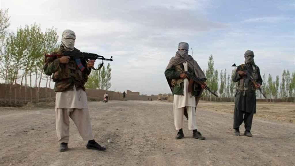 Talibanes en Afganistán.