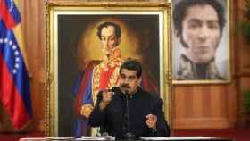 Nicolás Maduro en la rueda de prensa de este martes.