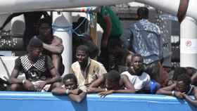 Inmigrantes rescatados en Libia.