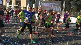Imagen de la maratón de Zurich en Barcelona de este año.