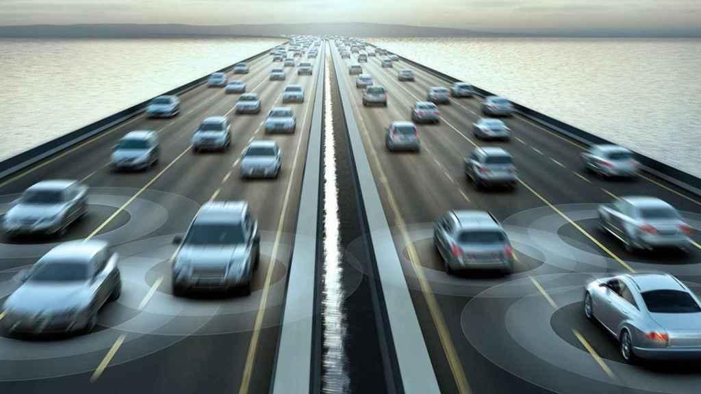 coche conectado carretera conectada