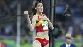 Ruth Beitia, durante la final olímpica de Río 2016.