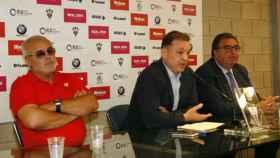 José Antonio Iniesta, José Miguel Garrido y Santiago Pozas. Foto: Albacete Balompié