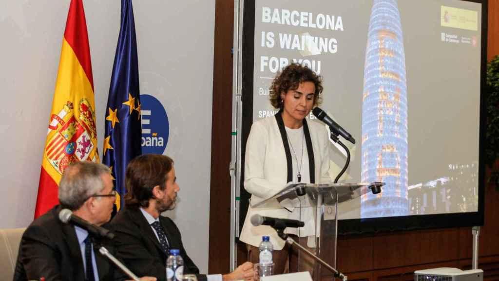 Montserrat, durante el acto de presentación de la EMA en Bruselas