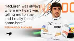 Foto del comunicado en el que se oficializa la renovación de Alonso.
