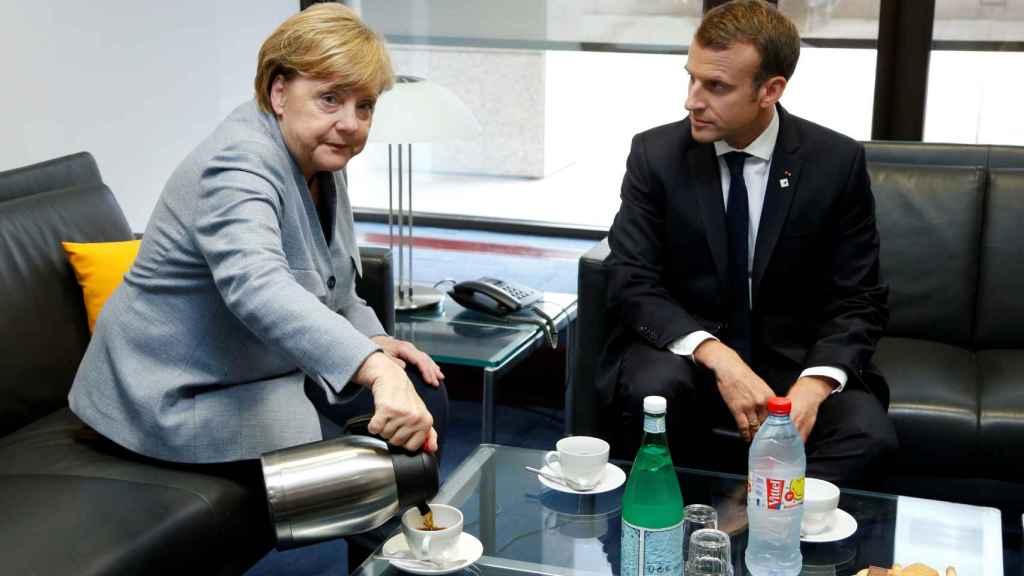 Merkel y Macron, en su reunión previa a la cumbre de la UE
