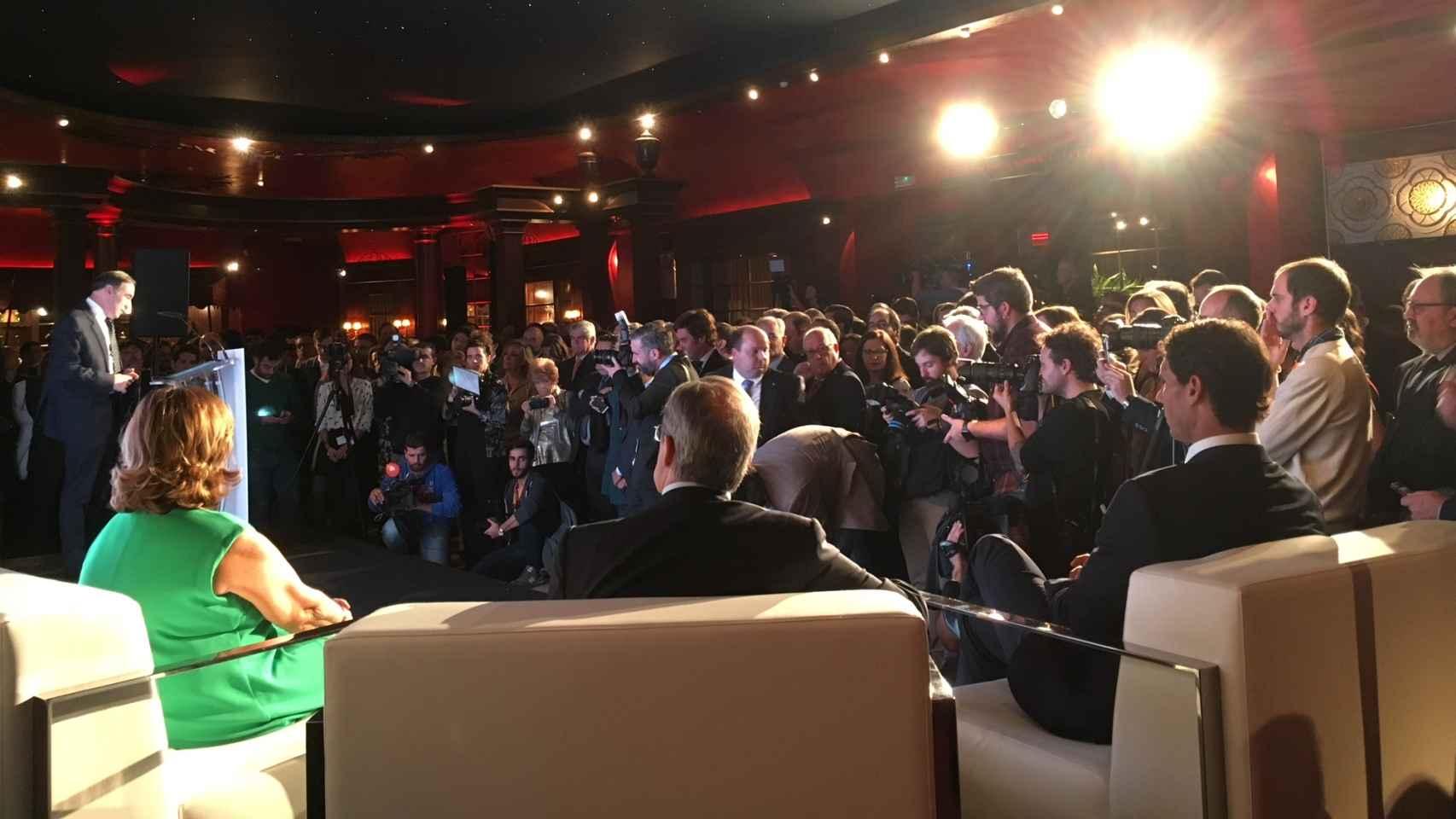 Pedro J. Ramírez durante su discurso en la entrega de los premios Los Leones de EL ESPAÑOL.