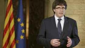 Puigdemont, en su declaración desde el Palau.