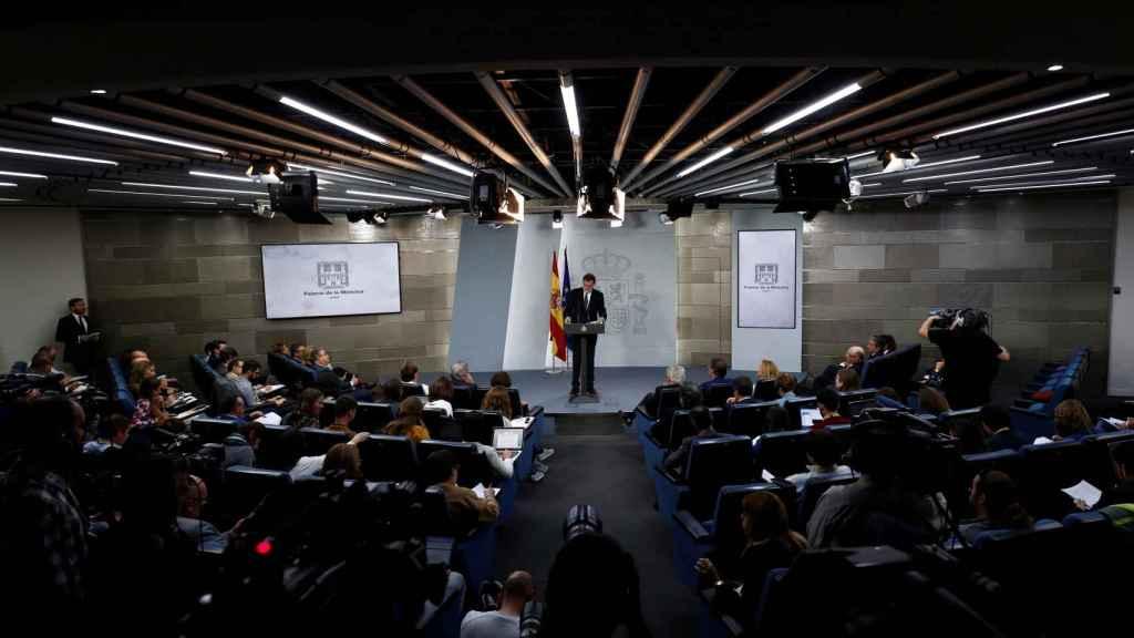 Rajoy, durante la rueda de prensa de este sábado.