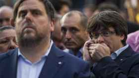 Junqueras y Puigdemont, en una imagen de archivo.