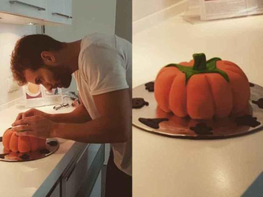 El año pasado por Halloween se atrevió con una tarta en forma de calabaza.