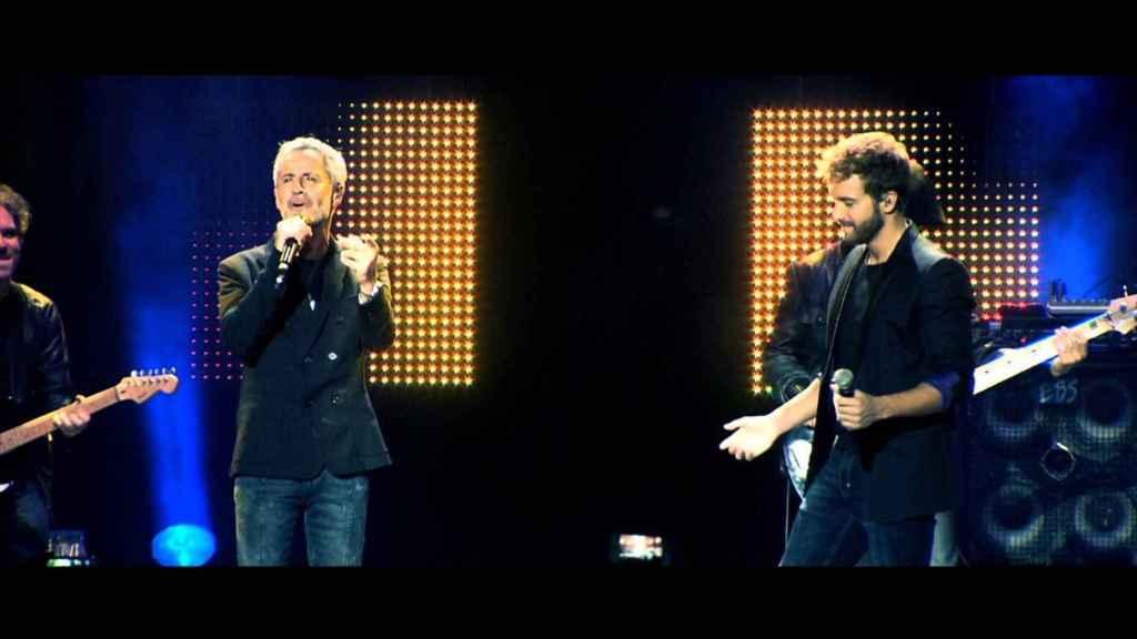 Sergio Dalma y Pablo Alborán, actuando juntos.
