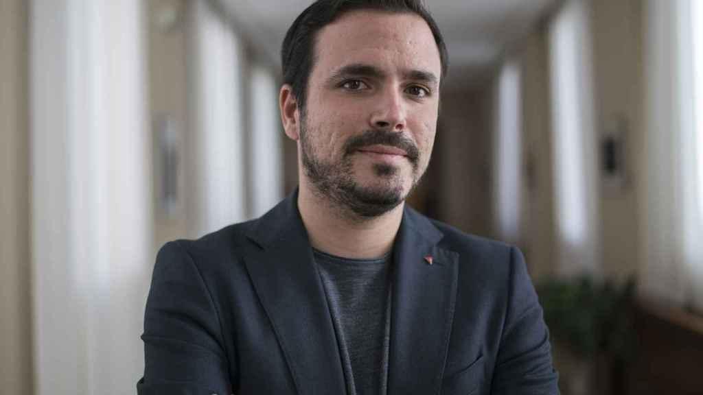 Garzón, fotografiado en la sala Lázaro Dou, donde saltaron por los aires las negociaciones para un Gobierno alternativo a Rajoy.