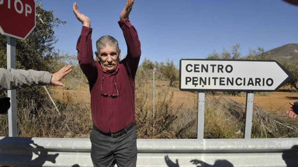 Miguel Montes Neiro, el día que salió de la cárcel (febrero de 2012).