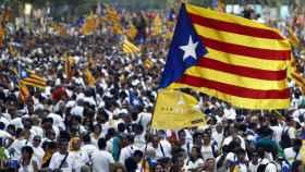 Manifestación por la independencia de Catalña