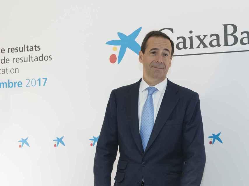 Gonzalo Gortázar, consejero delegado de CaixaBank, en la presentación de resultados del tercer trimestre de 2017.