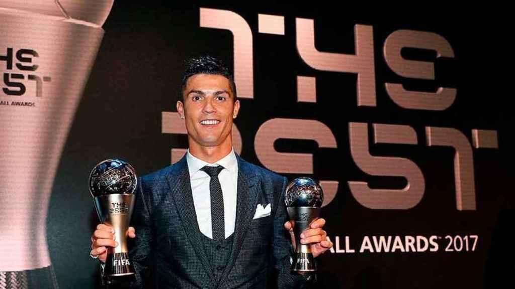 Cristiano Ronaldo premiado por partida doble en el The Best 2017