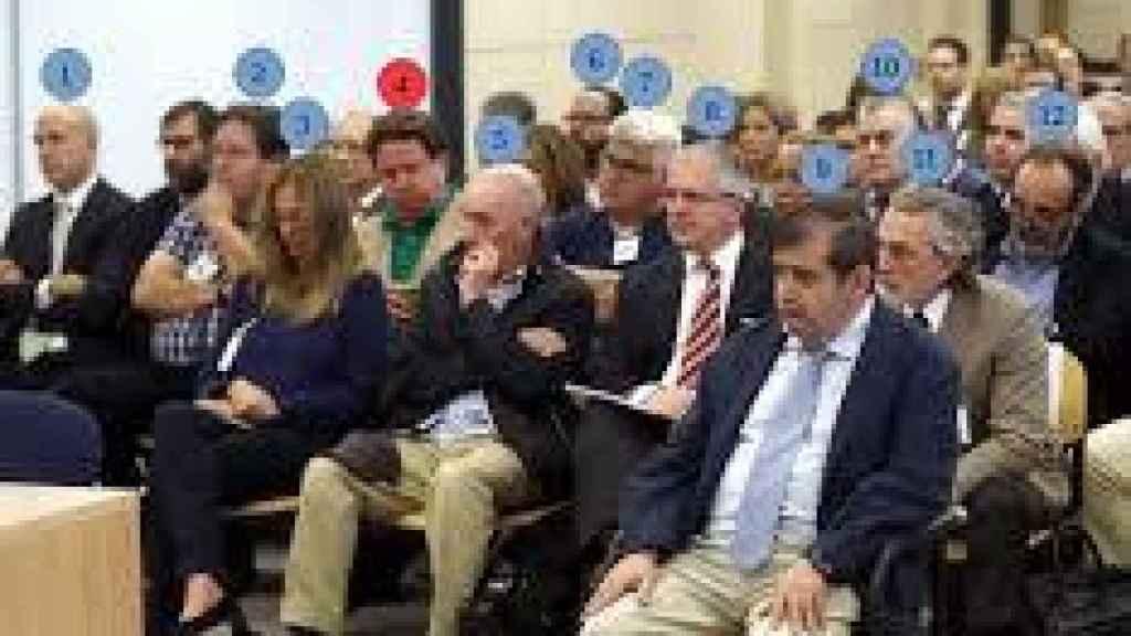 Los acusados del caso Gürtel, durante una de las sesiones del juicio.
