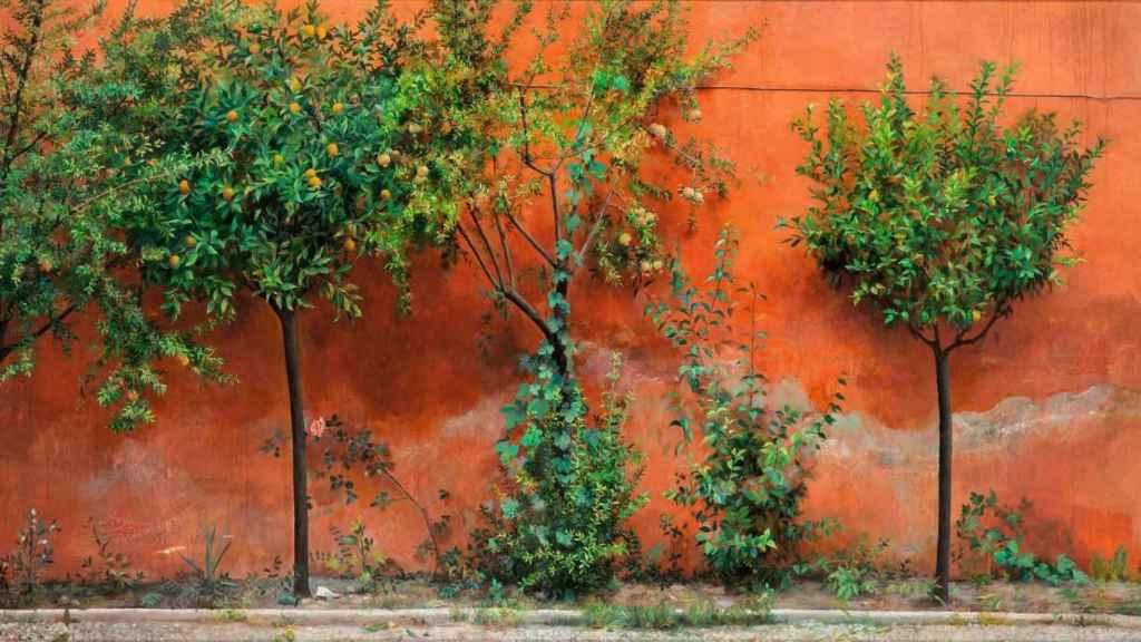 Un jardín pintado por Isabel.