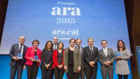 Premios Ara 2015 presididos por la alcaldesa de Barcelona Ada Colau.