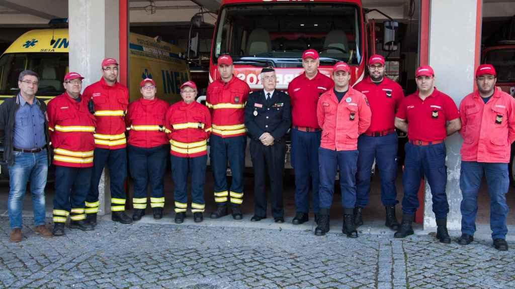 La corporación de bomberos de Seia.