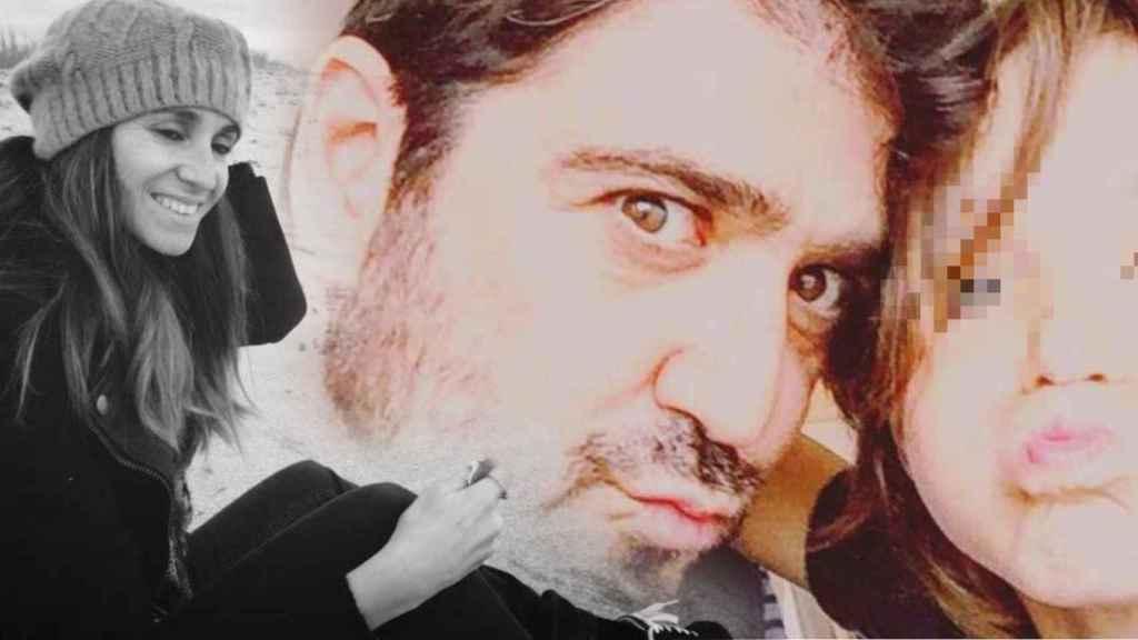 Susana Prat junto a  Antonio Orozco y su hijo, en un fotomontaje de JALEOS.