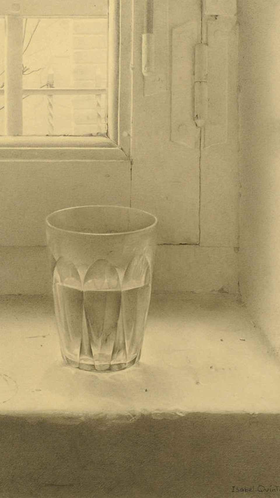 El vaso, uno de los cuadros más famosos de Quintanilla.