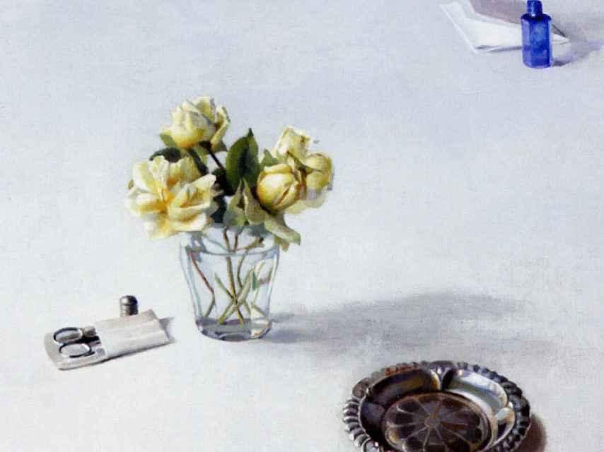 El bodegón titulado Flores, de Isabel Quintanilla.