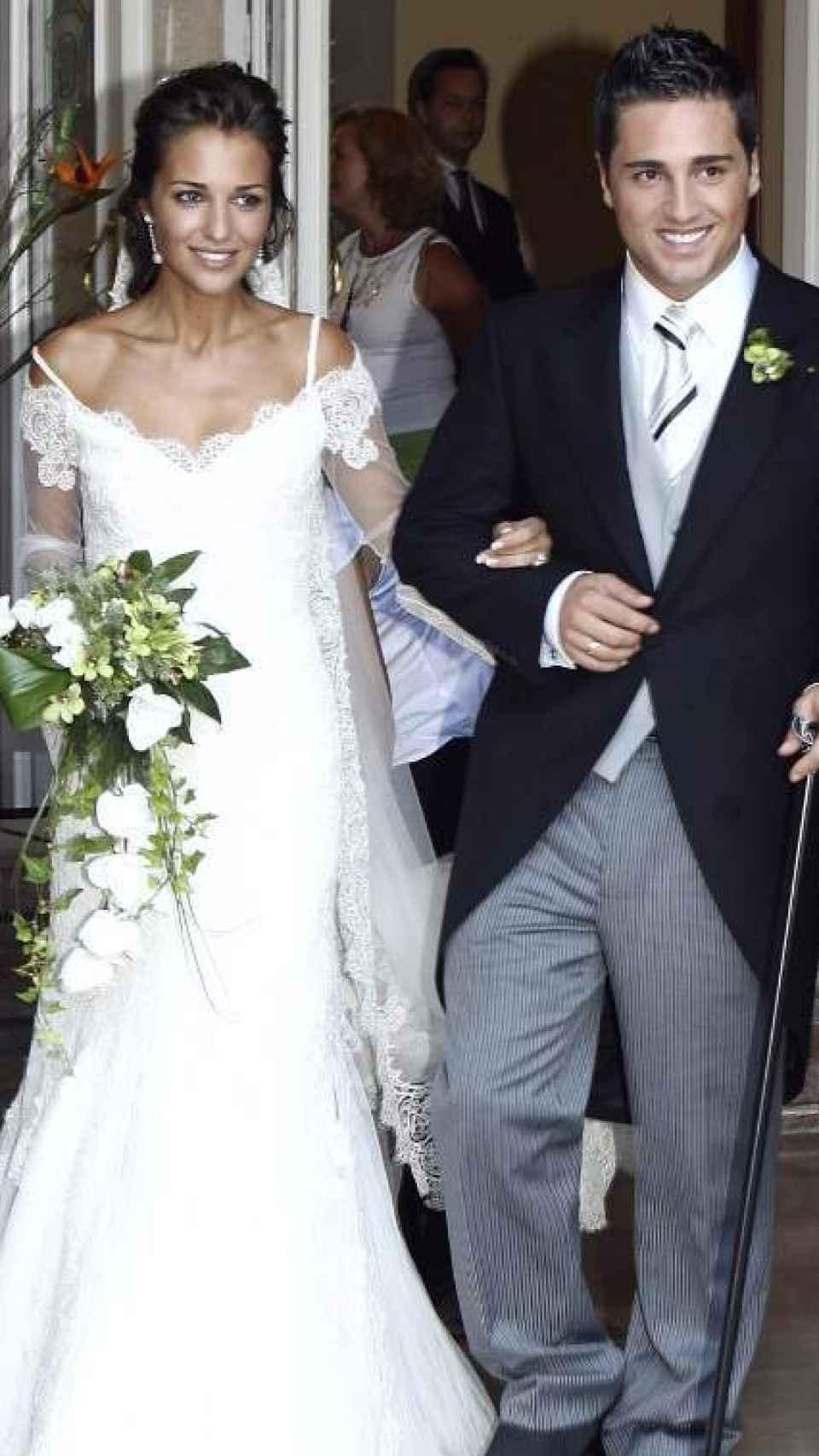 Paula Echevarría vestida de Rosa Clará durante el día de su boda