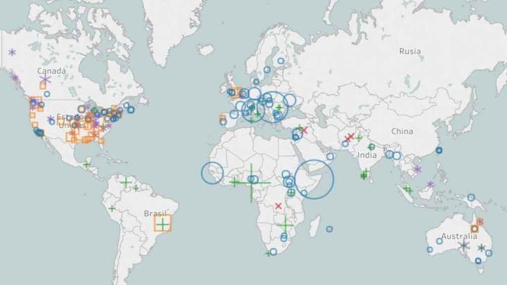 Mapa de enfermedades prevenibles con vacunas.