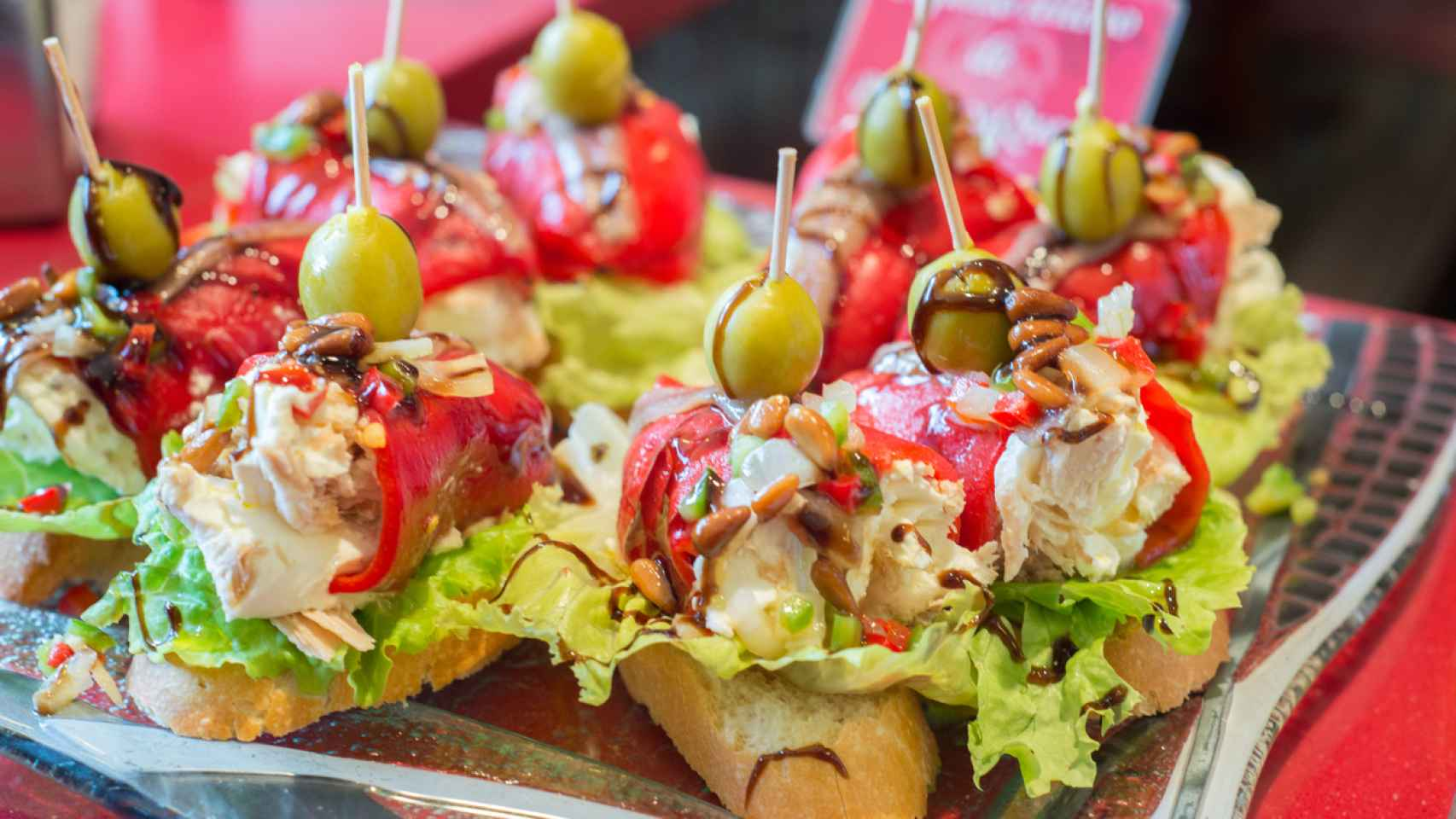 Pinchos, traditional Basque Country appetizer