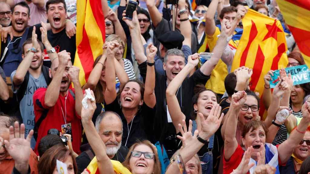 Imagen de una manifestación independentista.