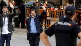 Sánchez y Cuixart en su comparecencia en la Audiencia Nacional