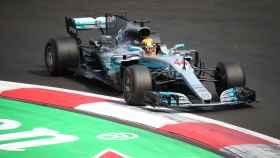 Lewis Hamilton, en el Gran Premio de México.