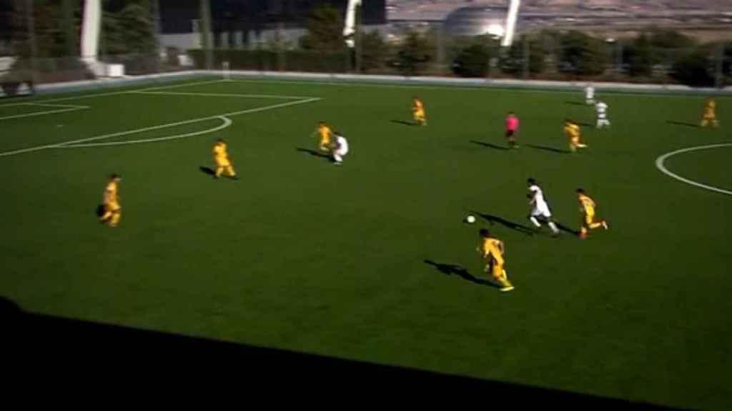 Jugada con gol de Theo Zidane