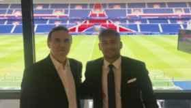 Wagner Ribeiro con Neymar. Foto: Twitter (@wagneribeiro_)