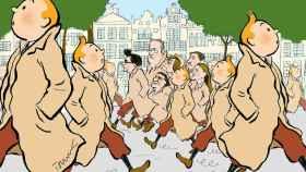 Puigdemont en el país de Hergé.