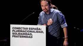 Pablo Iglesias este lunes en Madrid.